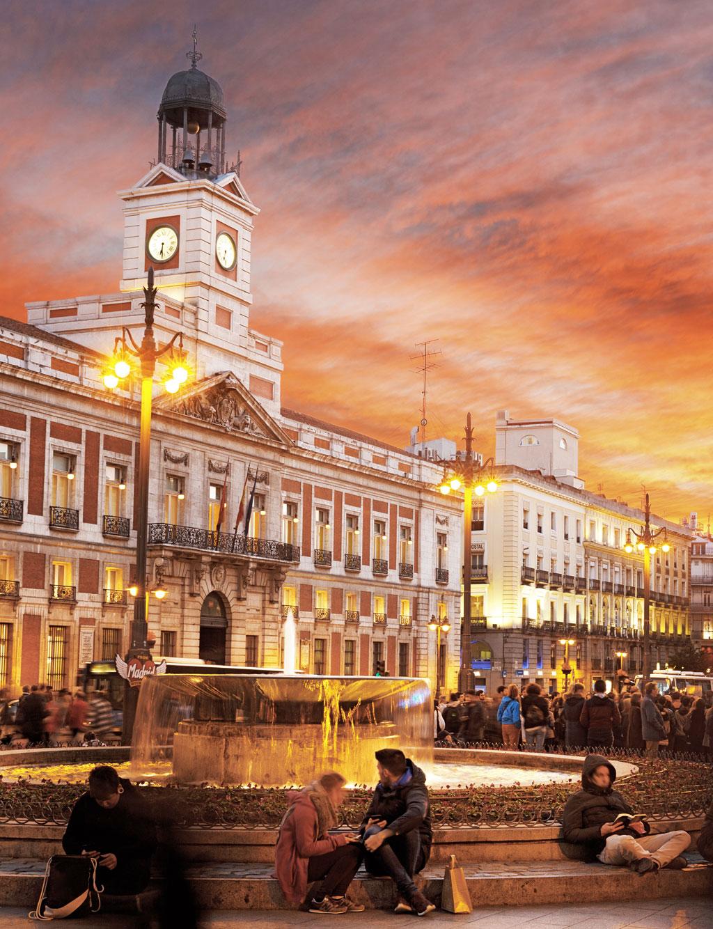Puerta de sol en Madrid